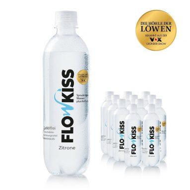 FLOWKISS Koffeinwasser mit natürlichem Zitronenaroma