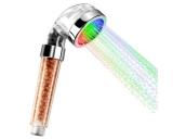 LED Duschkopf, Wellnessbrause mit 3 Farben