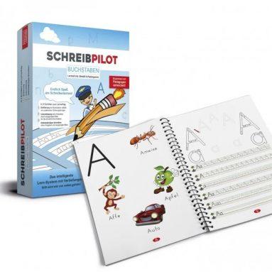 Schreibpilot – Heft Buchstaben mit Bleistift und Radiergummi