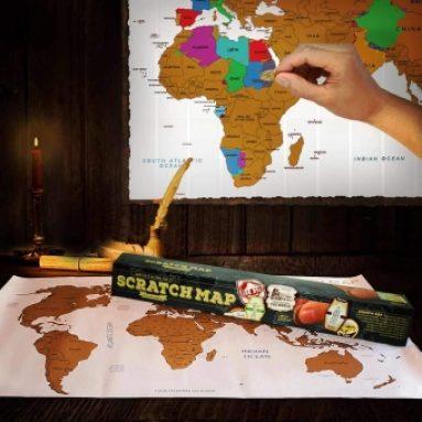 Scratchmap Weltkarte zum Freirubbeln