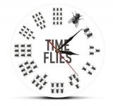 Time Flies Wanduhr